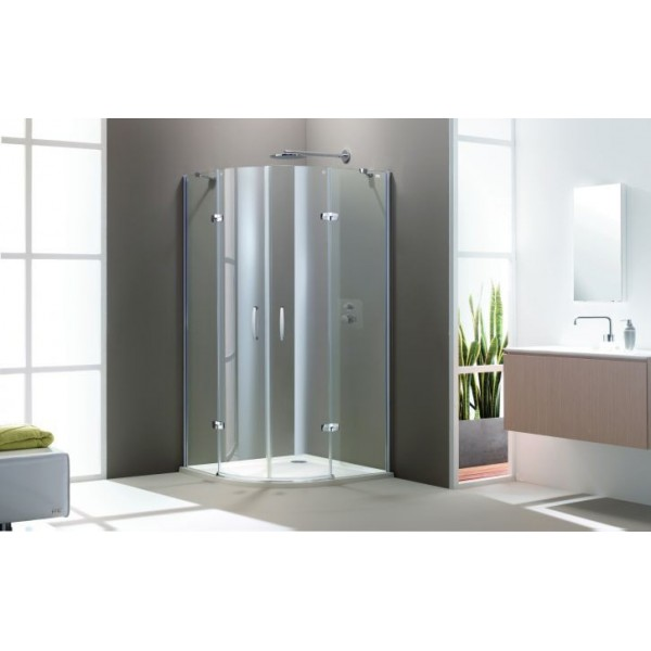 Овална душ кабина с две отваряеми врати Aura elegance 400801.087.321