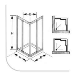 Душ кабина Сигма 80х80 бял профил, мат стъкло 2