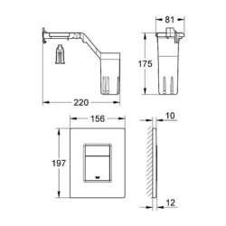 Grohe Skate Cosmopolitan хром бутон за WC с Fresh система 2