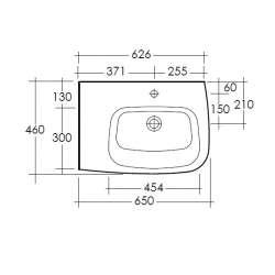 Асиметрична мивка RAK One лява 65 см 2