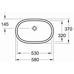 Villeroy & Boch O.novo 530x320мм мивка за вграждане под плот 2