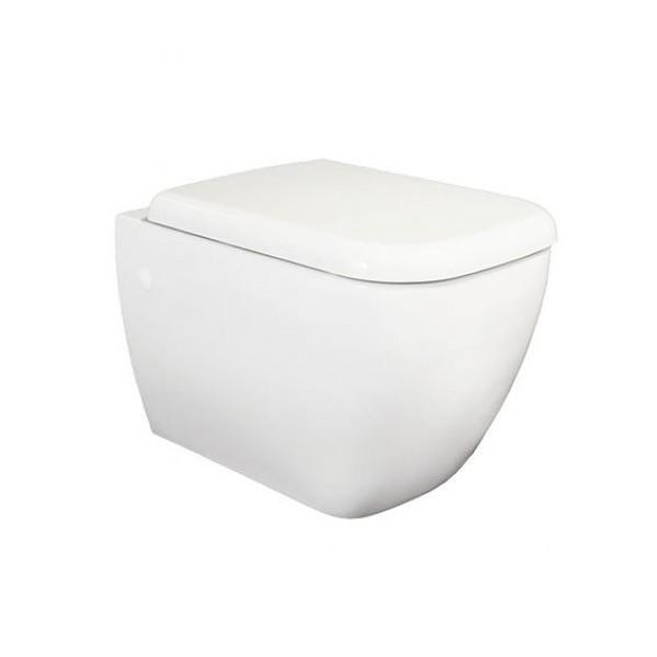 Стенна тоалетна чиния RAK Metropolitan MEWC00002+MESC00002