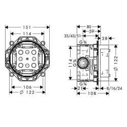 Hansgrohe iBox Universal универсално тяло за вграждане 2