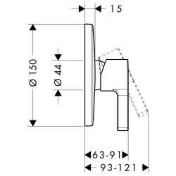 Hansgrohe Metris S смесител за вграждане без превключвател 2