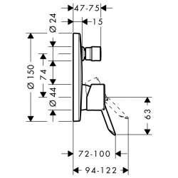 Hansgrohe Focus S смесител за вграждане с превключвател 2