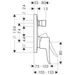 Hansgrohe Metris смесител за вграждане с превключвател 2