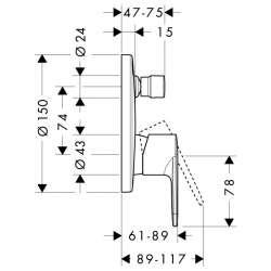 Hansgrohe Talis E2 Смесител за вграждане с превключвател 2