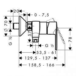 Hansgrohe Talis E2 смесител за душ 2