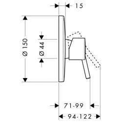Hansgrohe Talis S смесител за вграждане без превключвател 2