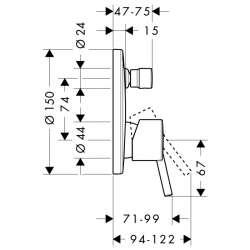 Hansgrohe Talis S смесител за вграждане с превключвател 2