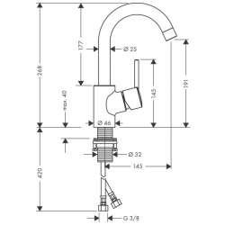 Hansgrohe Talis S смесител за мивка висок с въртящ се чучур 2