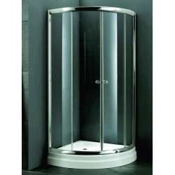Промоция на овална душ кабина с прозрачно стъкло 90х90