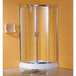 Промоция на овална душ кабина с прозрачно стъкло 90х90 2