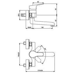 Vidima SevaFlow стенен за умивалник с въртящ се чучур 2