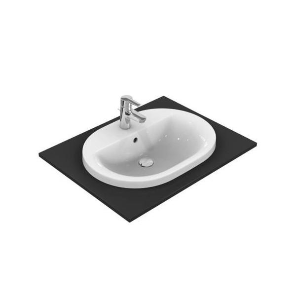 Овална мивка за вграждане Ideal Standard Connect 62x46 см - с отвор за смесител E504001