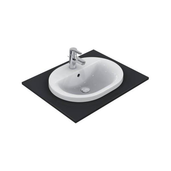 Овална мивка за вграждане Ideal Standard Connect 55x43 см - с отвор за смесител E503901