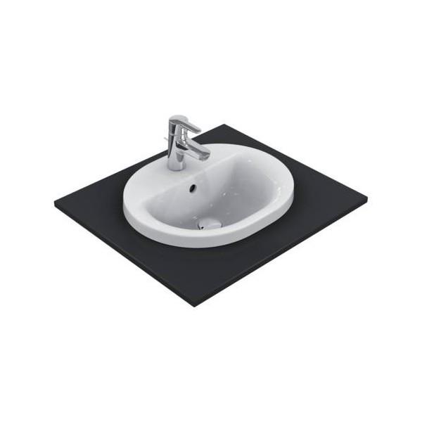 Овална мивка за вграждане Ideal Standard Connect 48x40 см - с отвор за смесител E503801