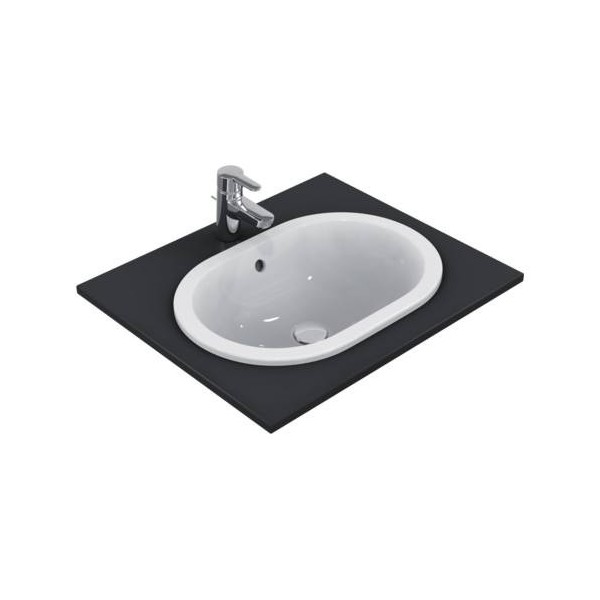 Овална мивка за вграждане Ideal Standard Connect 55x38 см - без отвор за смесител E504701