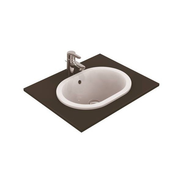 Овална мивка за вграждане Ideal Standard Connect 48x35 см - без отвор за смесител E504501