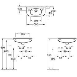 Villeroy & Boch O.novo 500x250мм Compact за стенен монтаж 2