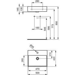 Ideal Standard Strada 50х42 см мивка с отвор за смесител 2