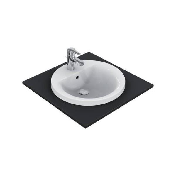 Кръгла мивка за вграждане Ideal Standard Connect 48 см - с отвор за смесител E504201