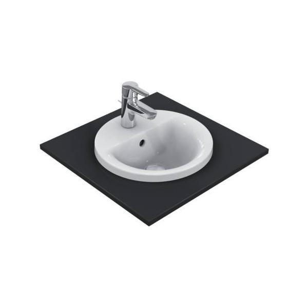 Кръгла мивка за вграждане Ideal Standard Connect 38 см - с отвор за смесител E504101