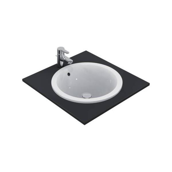 Кръгла мивка за вграждане Ideal Standard Connect 48 см - без отвор за смесител E505301