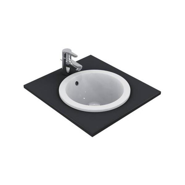 Кръгла мивка за вграждане Ideal Standard Connect 38 см - без отвор за смесител E505101