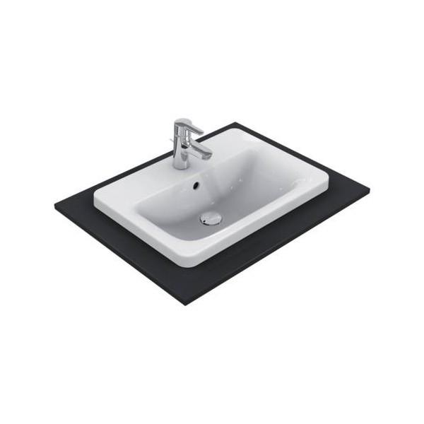 Правоъгълна мивка за вграждане Ideal Standard Connect 58х43 см - с отвор за смесител E504401