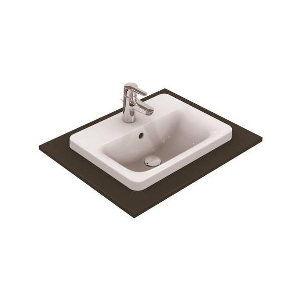 Правоъгълна мивка за вграждане Ideal Standard Connect 50х39 см - с отвор за смесител E504301