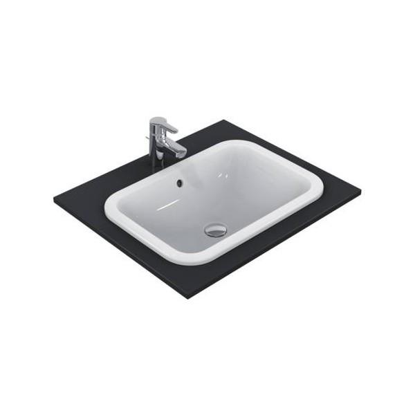 Правоъгълна мивка за вграждане Ideal Standard Connect 58х41 см - без отвор за смесител E505901