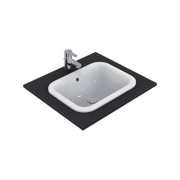Правоъгълна мивка за вграждане Ideal Standard Connect 50х38 см - без отвор за смесител E505701