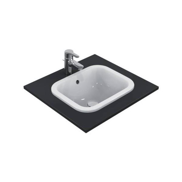 Правоъгълна мивка за вграждане Ideal Standard Connect 42х35 см - без отвор за смесител E505501