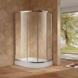 Овална душ кабина с плъзгащи се врати ESPE 120х90 - прозрачна