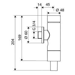 Schell Schellomat Basic напорен промивен кран за WC 2