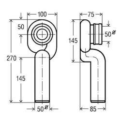 Сифон за писоар Viega 3233.8 - вертикално оттичане 2