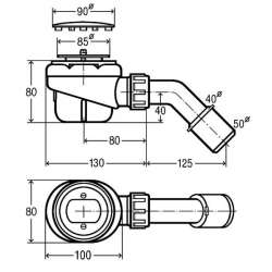 Сифон за поддушово корито Viega Domoplex 6929 - за корито Ø 65 mm 2