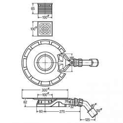 Плосък сифон за баня Viega Advantix 4980.60 - 62 мм 2