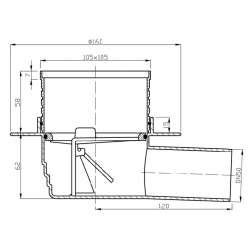 Подов сифон със суха клапа Quadric 10х10 2