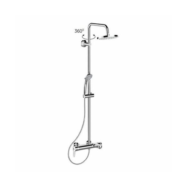 Душ система IdealRain Soft със смесител за вана/душ едноръкохватков B1097AA