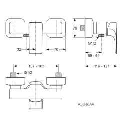 Ideal Standard Strada стенен за душ 2