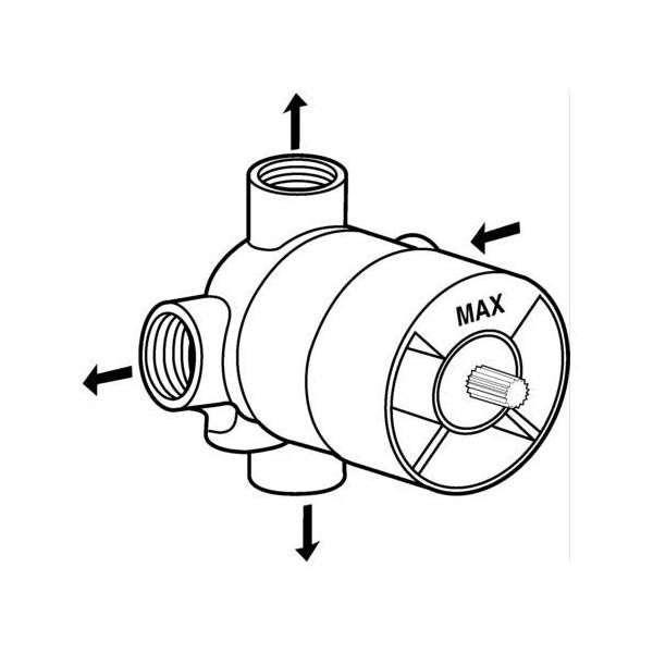 Ideal Standard вграден четирипътен разпределител вътрешна част A2391NU