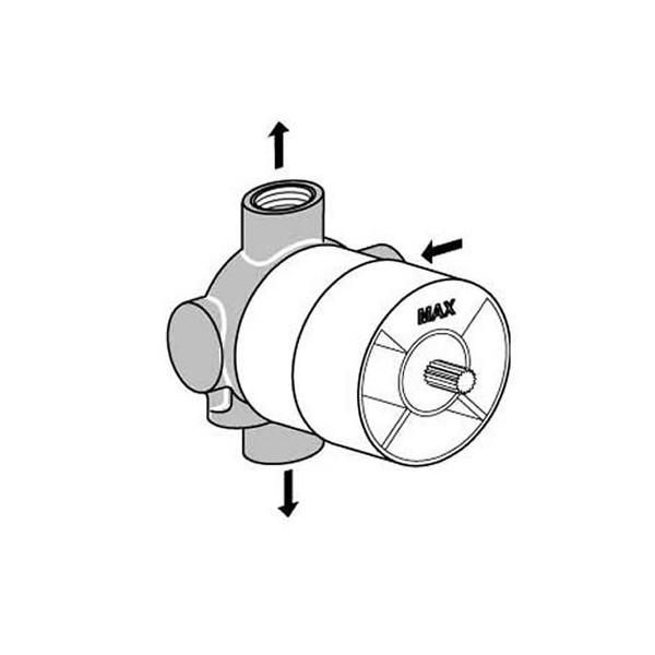 Ideal Standard вграден трипътен разпределител вътрешна част A2393NU