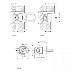 Ideal Standard вграден трипътен разпределител вътрешна част 2