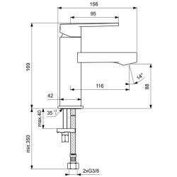 Ideal Standard Gio за умивалник без изпразнител 2