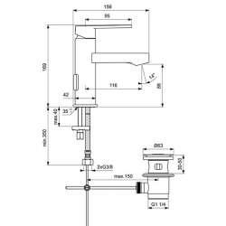 Ideal Standard Gio за умивалник с изпразнител 2