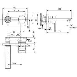 Ideal Standard Gio вграден смесител за умивалник 2
