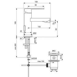 Ideal Standard Gio смесител за биде 2