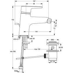 Ideal Standard Connect Blue смесител за биде 2